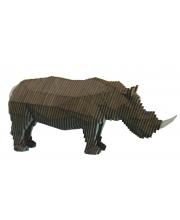 Деревянный конструктор Носорог с набором карандашей UNIWOOD