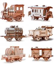 Деревянный конструктор Набор Поезд UNIWOOD