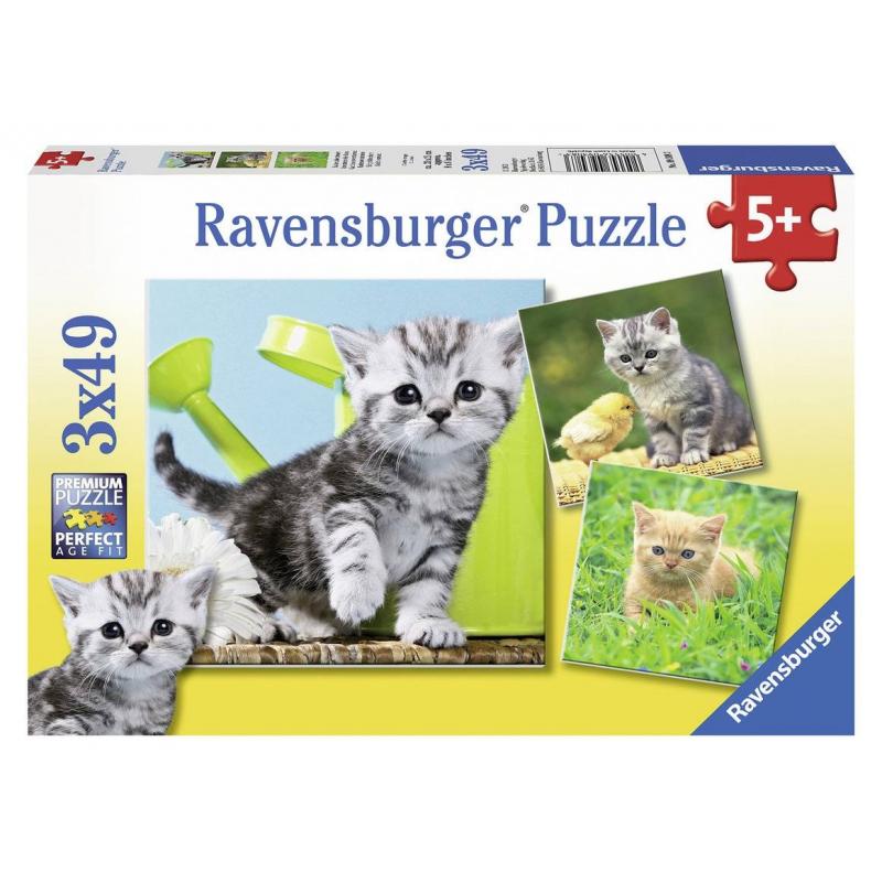 RAVENSBURGER Пазл Отважный котенок 3 шт по 49 деталей пазл 200 котенок 17154