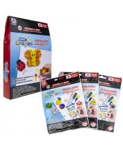 Набор тесто-мелков Clay Crayon Бабочка 3 цвета 1Toy