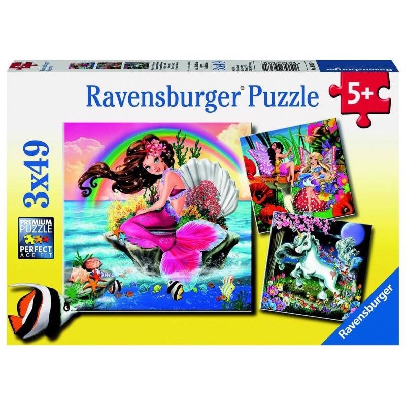 RAVENSBURGER Пазл Воображаемые друзья 3 шт по 49 деталей ravensburger ravensburger набор для творчества mandala designer балерины