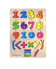 Цветные Цифры из дерева 30x20 см ЯиГрушка
