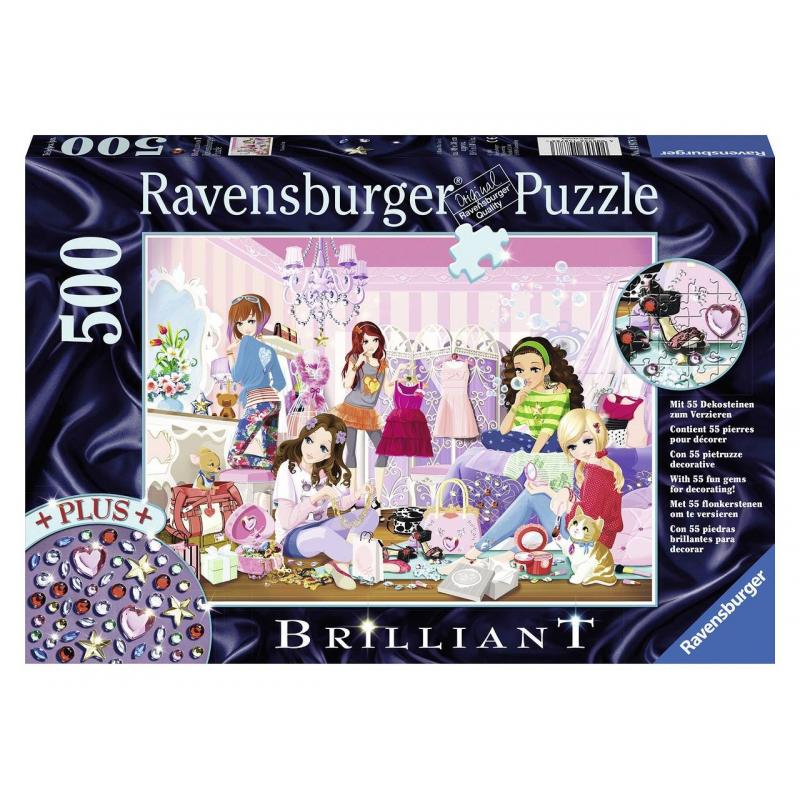 RAVENSBURGER Пазл Модные подруги со стразами 500 деталей ravensburger пазл прима балерина 500 деталей