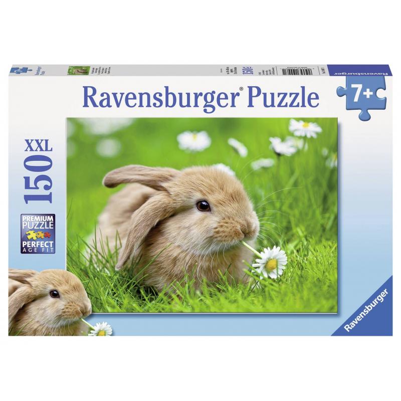 RAVENSBURGER Пазл Кролик в ромашках XXL 150 деталей ravensburger пазл кролик в ромашках xxl 150 деталей