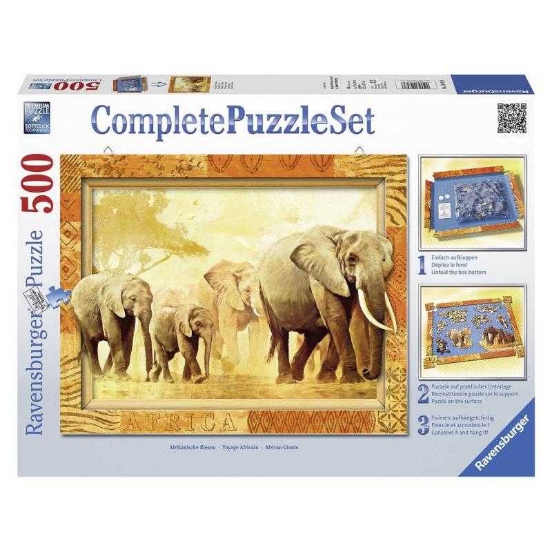 RAVENSBURGER Пазл Слоны 500 деталей пазл для раскрашивания арт терапия царь зверей origami 360 деталей