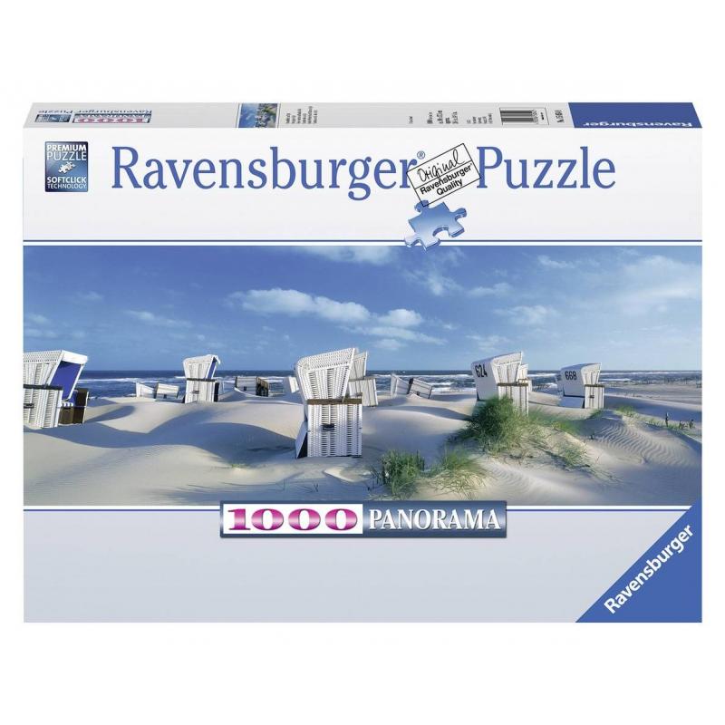 RAVENSBURGER Пазл панорамный Пляжные корзинки на Зюлте 1000 деталей пазл ravensburger пазл панорамный идиллия на озере 1000 шт