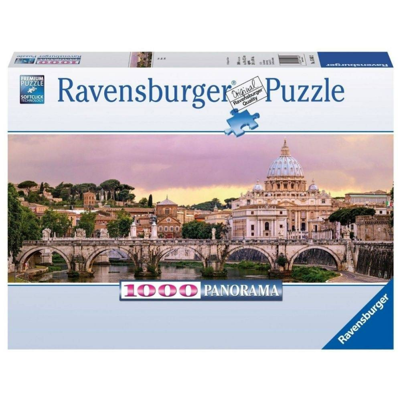 RAVENSBURGER Пазл панорамный Рим 1000 деталей пазл ravensburger пазл панорамный идиллия на озере 1000 шт