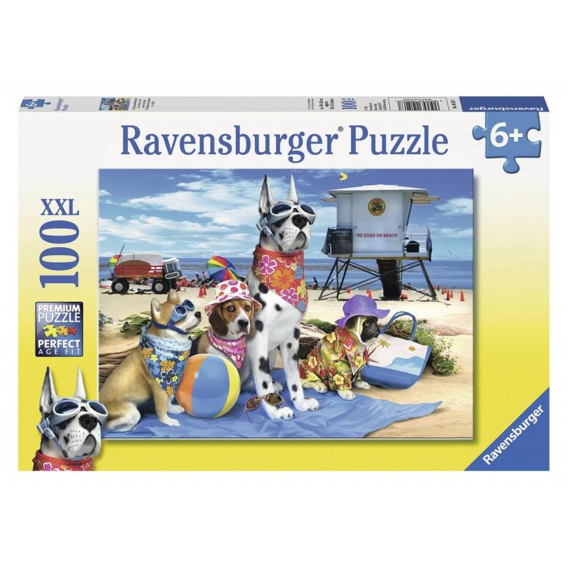 Пазл Собаки на пляже XXLПазл Собаки на пляже XXLмарки Ravensburger.<br>Включает 100 элементов.<br>Размер картинки: 49х36 см.<br><br>Возраст от: 6 лет<br>Пол: Не указан<br>Артикул: 653766<br>Бренд: Германия<br>Размер: от 6 лет