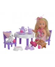 Кукла Еви 12 см с набором День рождения питомцев Simba