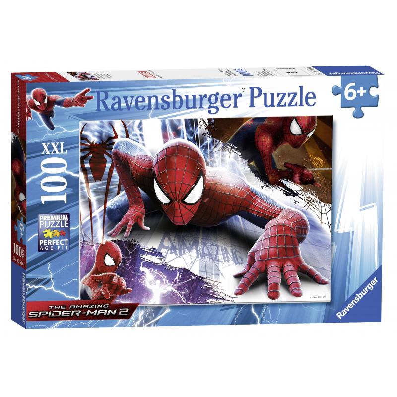 Пазл Человек-паук XXLПазл Человек-паук XXLмарки Ravensburger для мальчиков.<br>Включает 100 элементов.<br>Размер картинки: 49х36 см.<br><br>Возраст от: 6 лет<br>Пол: Для мальчика<br>Артикул: 653772<br>Бренд: Германия<br>Лицензия: Spider-Man<br>Размер: от 6 лет