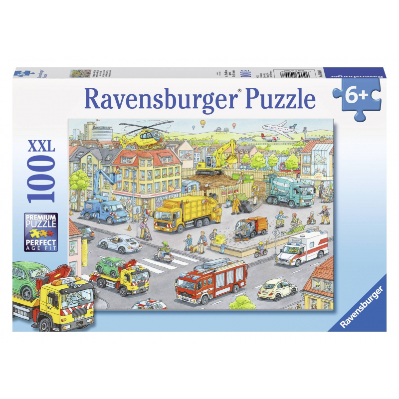 RAVENSBURGER Пазл Городской транспорт XXL 100 деталей ravensburger ravensburger пазл парад кошек xxl 100 шт