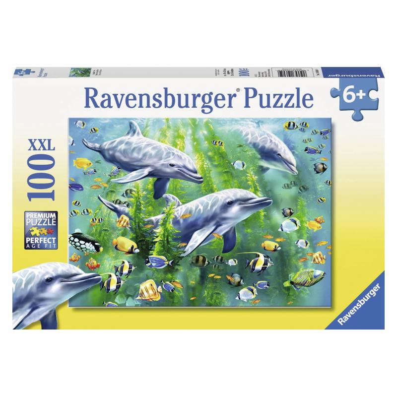 RAVENSBURGER Пазл Три дельфина XXL 100 деталей ravensburger пазл скейтборды xxl 100 деталей