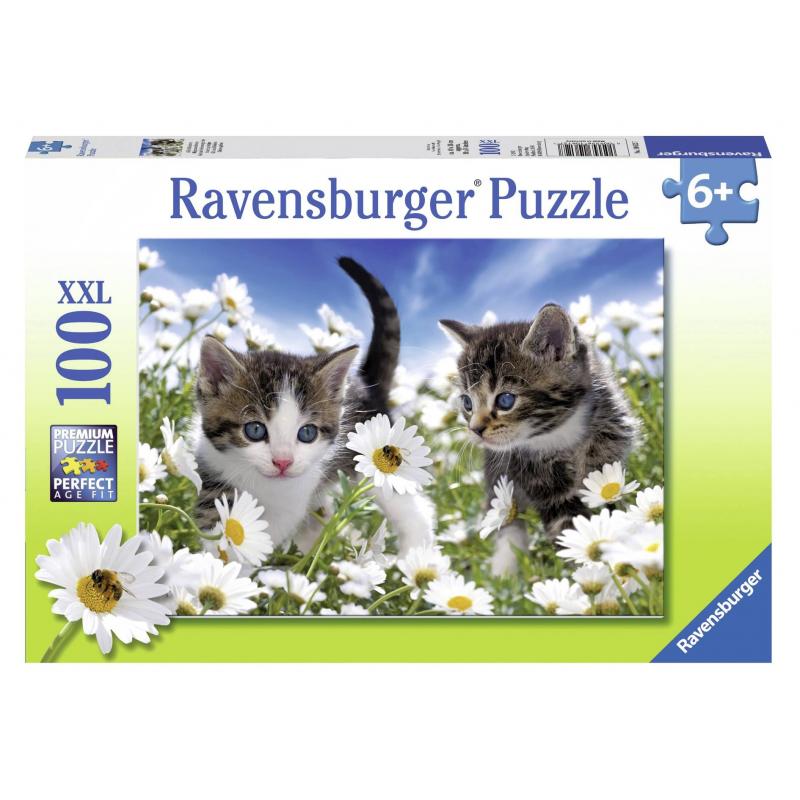RAVENSBURGER Пазл Котята в ромашках XXL 100 деталей полуперсидские котята в москве