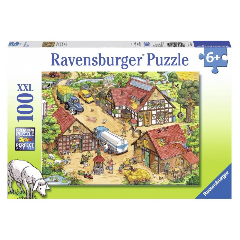 RAVENSBURGER Пазл На ферме XXL 100 деталей ravensburger ravensburger пазл парад кошек xxl 100 шт