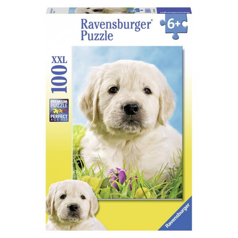 RAVENSBURGER Пазл Милый щенок XXL 100 деталей ravensburger ravensburger пазл парад кошек xxl 100 шт