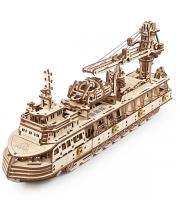 Сборная модель Научно-исследовательское судно 575 деталей Ugears
