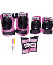 Комплект защиты Pink M 3 в 1 Wipeout