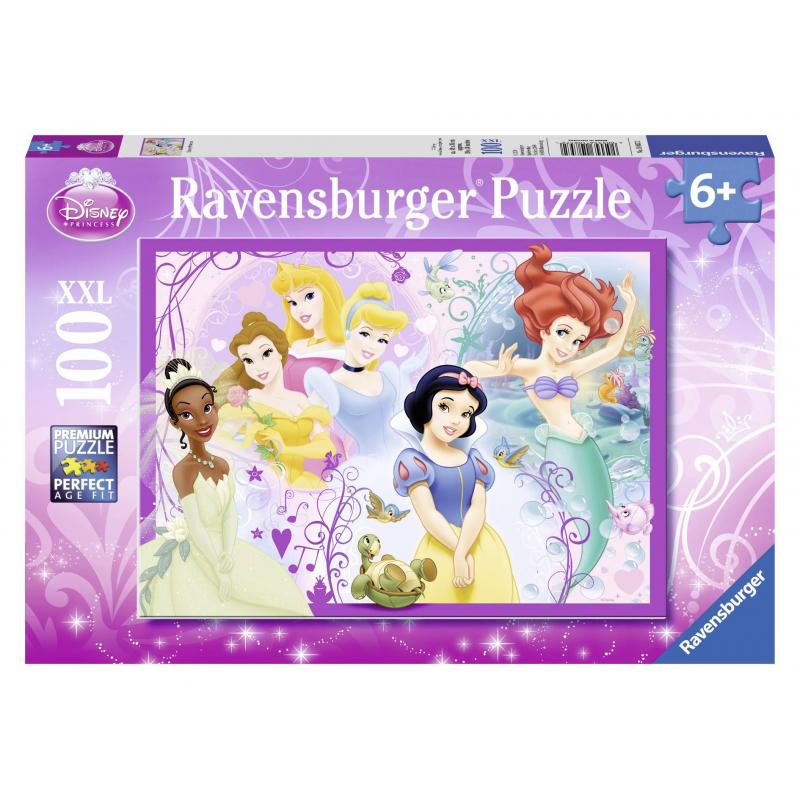 RAVENSBURGER Пазл Принцессы XXL 100 деталей ravensburger ravensburger пазл парад кошек xxl 100 шт