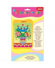 Картинка из пуговиц мини Цветы Дрофа-Медиа