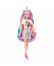 Кукла Barbie Радужные волосы Mattel
