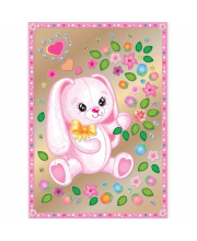 Набор для изготовления картины Зайка с цветами Клевер Медиа Групп