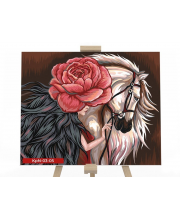 Набор для творчества Картина по номерам Девушка и конь Данко-Тойс