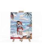 Набор для творчества Картина по номерам Дети у моря Данко-Тойс