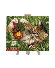 Набор для творчества Картина по номерам Игривый котенок Данко-Тойс