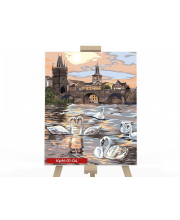 Набор для творчества Картина по номерам Лебеди Данко-Тойс