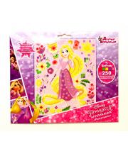 Набор для творчества Аппликация Рапунцель 5 цветов 250 деталей Десятое королевство