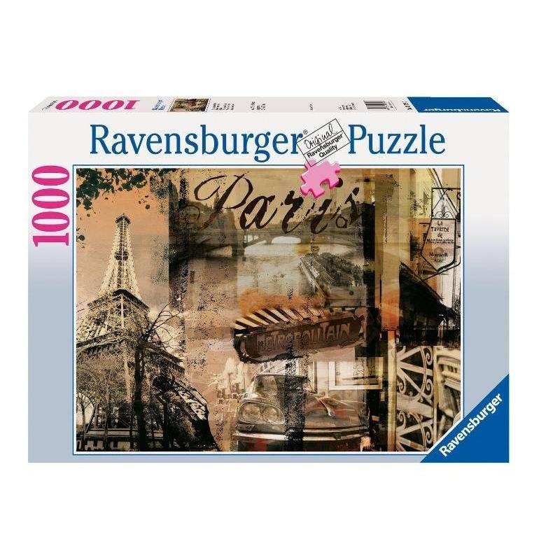 RAVENSBURGER Пазл Воспоминание о Париже 1000 деталей пазл ravensburger вечер в париже 500 элементов 14505