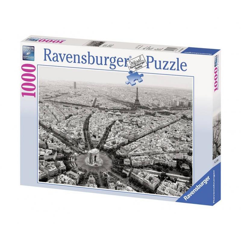 RAVENSBURGER Пазл Черно-белый Париж 1000 деталей ravensburger пазл черно белый париж