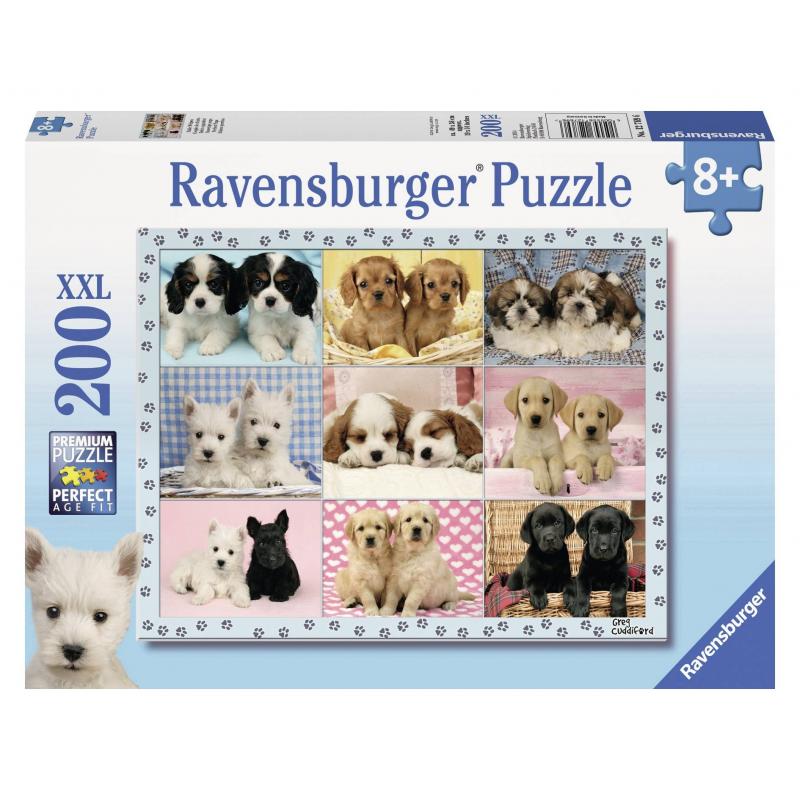 RAVENSBURGER Пазл Прелестные щенки XXL 200 деталей обучающая книга азбукварик суперсафари 9785402005044