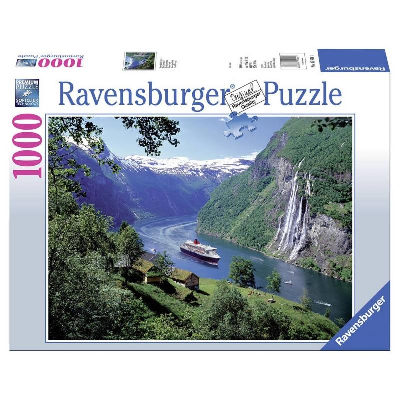 RAVENSBURGER Пазл Норвежский фьорд 1000 деталей пазл 73 5 x 48 8 1000 элементов printio doom 2016
