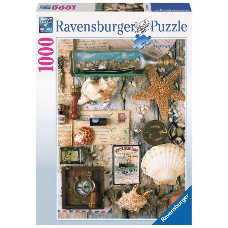 RAVENSBURGER Пазл Морские сувениры 1000 деталей сувениры