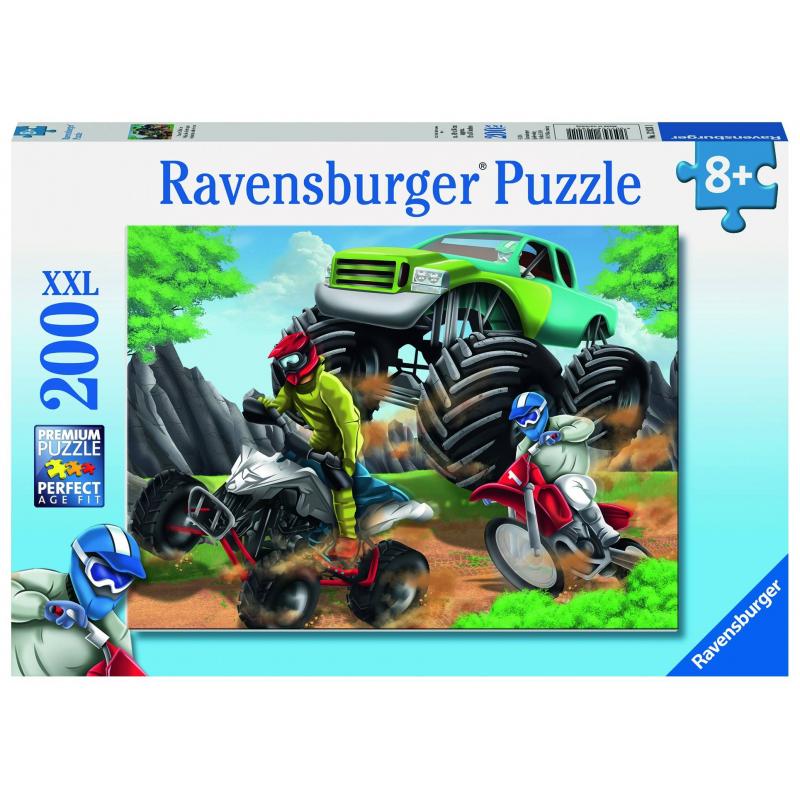 RAVENSBURGER Пазл Мощные машины XXL 200 деталей пазл 200 элементов ravensburger мой первый питомец 12810