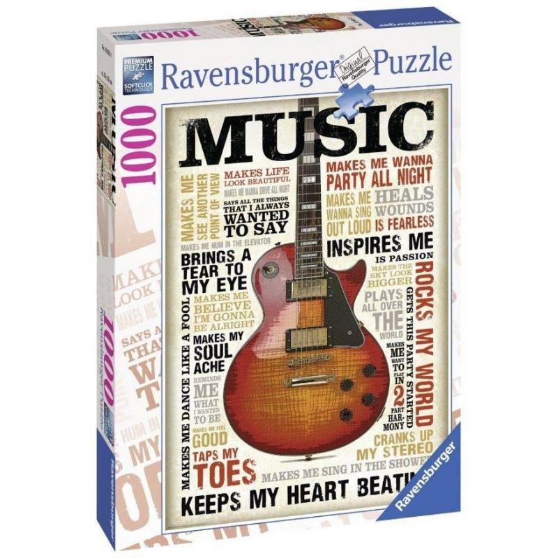 RAVENSBURGER Пазл Увлечение музыкой 1000 деталей