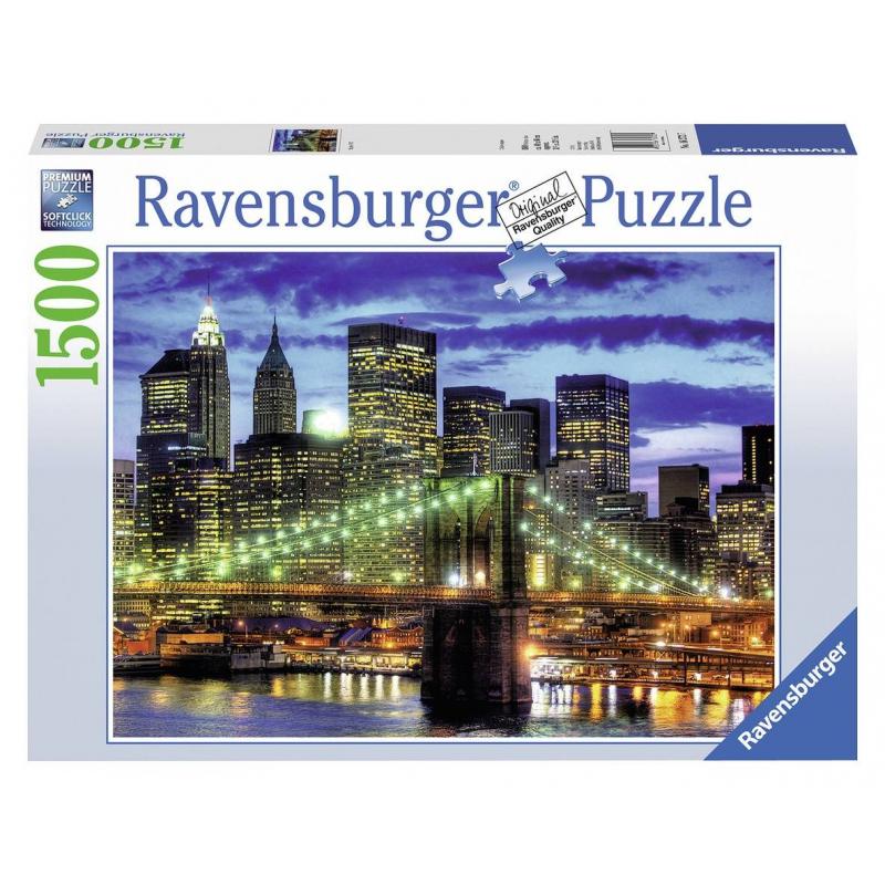 RAVENSBURGER Пазл Небоскребы Нью-Йорка 1500 деталей пазл clementoni trittico 3х500 эл легенды нью йорка 39305