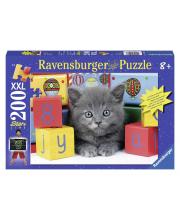 Пазл светящийся Котенок с кубиками XXL 200 деталей RAVENSBURGER