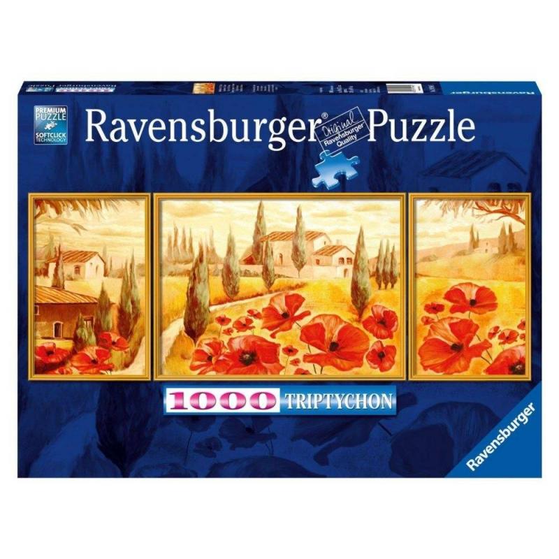 RAVENSBURGER Пазл-триптих Маки Тосканы 1000 деталей ravensburger маки тосканы пазл триптих 1000 элементов