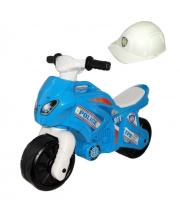 Каталка-мотоцикл беговел Полиция 911 со шлемом ТЕХНОК