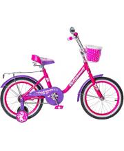 Велосипед Princess 1s с ручкой и светящимися колесами Black Aqua