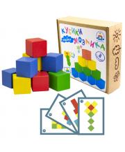 Кубики мозаика с карточками Краснокамская игрушка