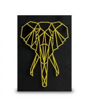 Стринг арт Слон минимализм String Art Lab