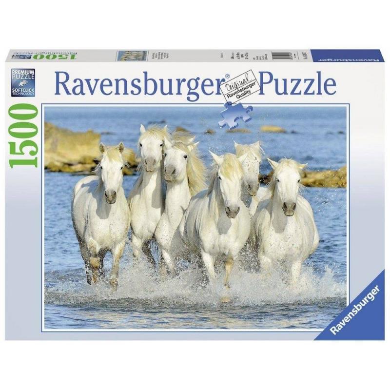RAVENSBURGER Пазл Рысью в прибое 1500 деталей ravensburger пазл лето в деревне 15 деталей ravensburger