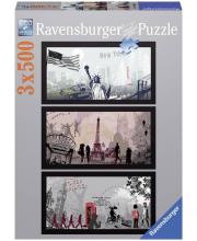 Пазл-триптих Городской стиль 1500 деталей RAVENSBURGER