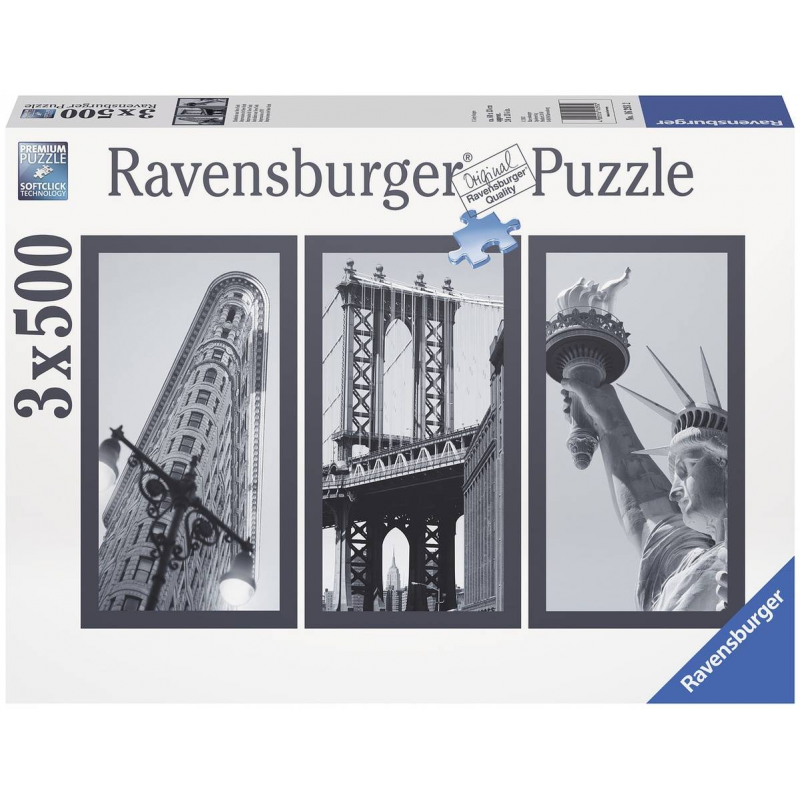 RAVENSBURGER Пазл-триптих Воспоминания о Нью-Йорке 1500 деталей ravensburger маки тосканы пазл триптих 1000 элементов