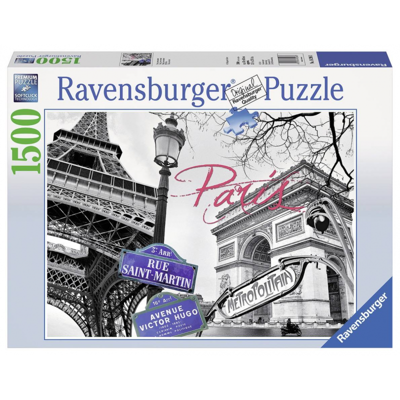RAVENSBURGER Пазл Мой Париж 1500 деталей ravensburger пазл черно белый париж
