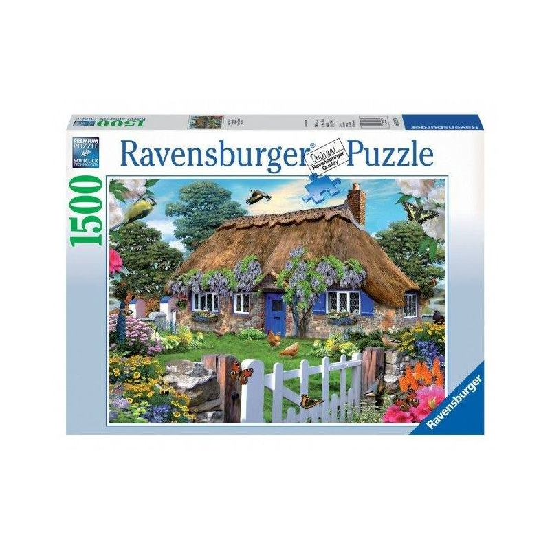 RAVENSBURGER Пазл Коттедж в Англии 1500 деталей ravensburger пазл тихая бухта 1500 деталей