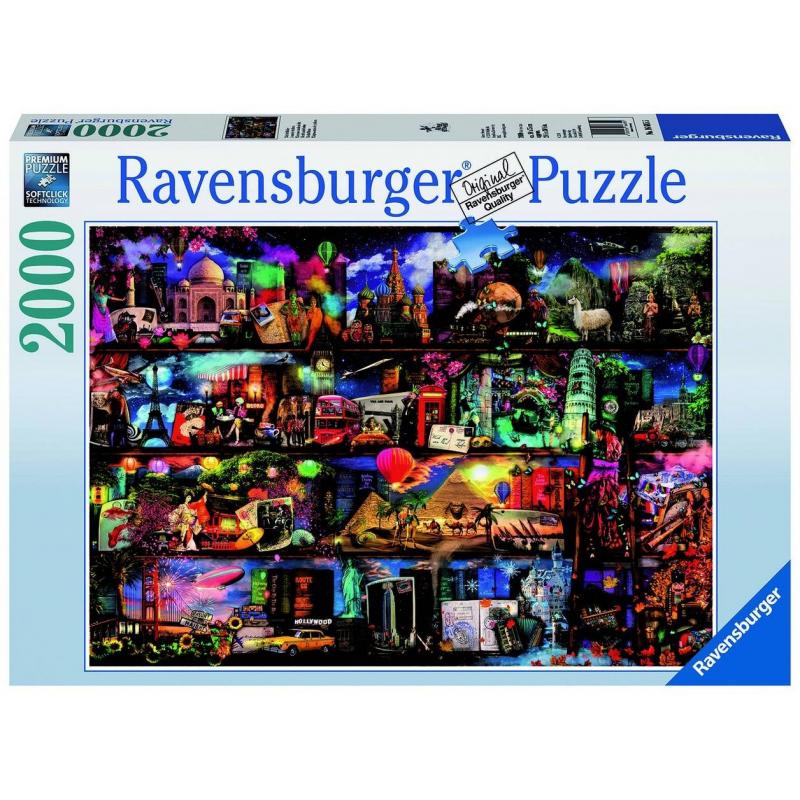 RAVENSBURGER Пазл Книжный мир 2000 деталей пазл 2000 продуктовая лавка 17128